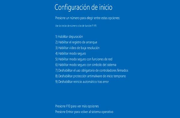 Arrancar en modo seguro con Windows 8 y 10