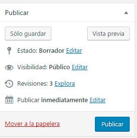Programar la publicación de entradas en WordPress